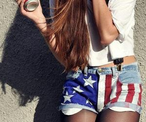 girl, shorts, and hair image