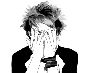 black and white, drawing, and 5 seconds of summer image