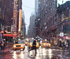 city, new york, and winter image