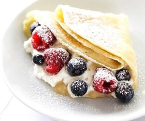 crepes, food, and yummy image