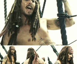captain jack sparrow, pirates of the caribbean, and johnny depp image