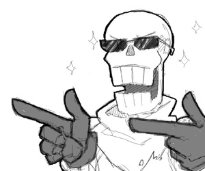 papyrus and undertale image
