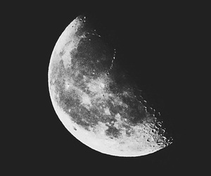 moon, black and white, and b&w image