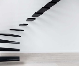 stairs, black, and house image