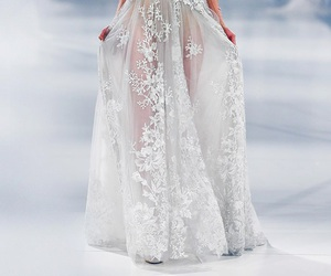 dress, paolo sebastian, and model image
