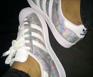 adidas, shoes, and sparkles image