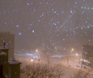 city, snow, and tumblr image