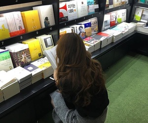 books, girl, and asian image