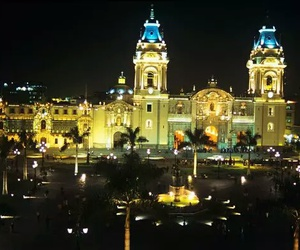 lights, cathedral, and lima image