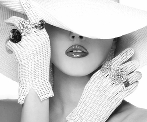gloves, hat, and woman image