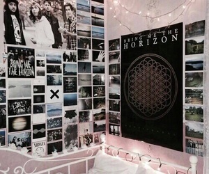room, bedroom, and band image