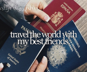 travel, bff, and goals image