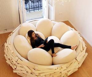 eggs, bed, and room image