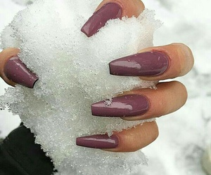 nails, snow, and fashion image