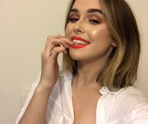 beautiful, pale, and red lips image