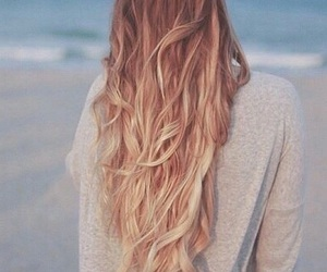 hair, beach, and blond image