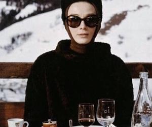 audrey hepburn, actress, and snow image