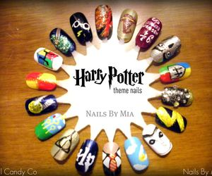 harry potter, nails, and love image