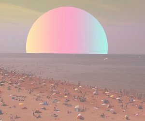 beach, ocean, and sun image