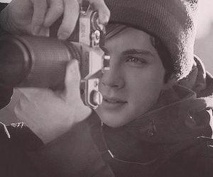 boy, camera, and logan lerman image