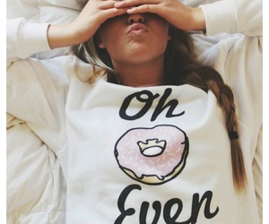girl, donuts, and outfit image