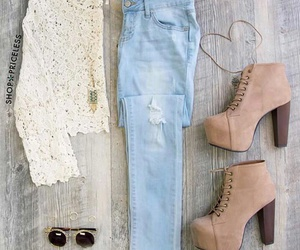 jeans, moda, and oufit image