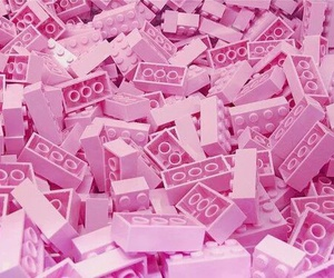 pink, lego, and pastel image