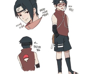 naruto, gender bender, and sarada image