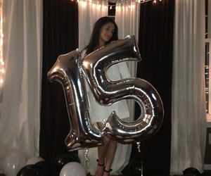 15, balloons, and birthday image