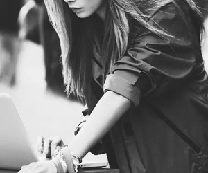 black and white, crush, and cara delevingne image