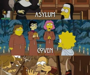 los simpson and american horror story image