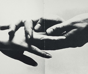 'love', 'black&white', and 'hands' image