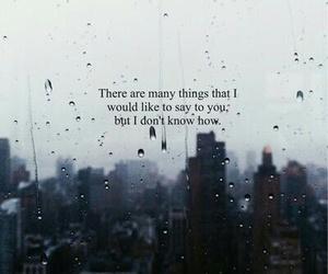 quote, love, and rain image