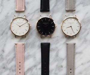 watch, clock, and pink image