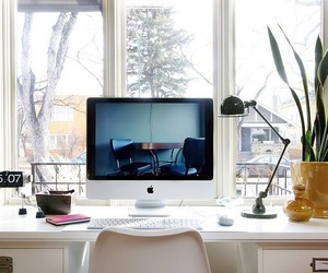 apple, computer, and desk image