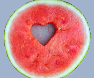 fruit, heart, and summer image