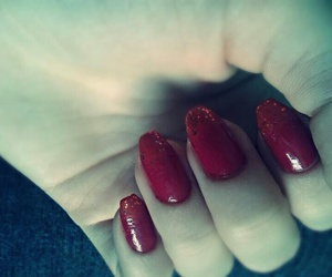 nails, red, and sparkle image
