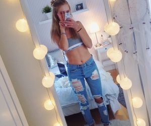 Calvin Klein, girl, and jeans image