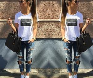fashion, hair, and adidas image