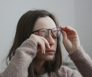 girl, face, and glasses image