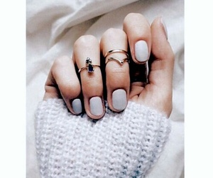 nails, rings, and winter image