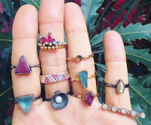 boho, rings, and jeverly image