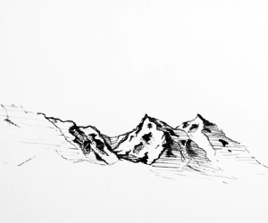 drawing and mountain image