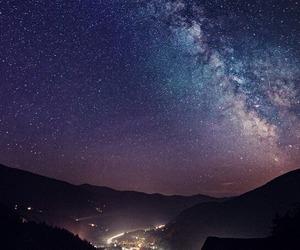 night, galaxy, and city image