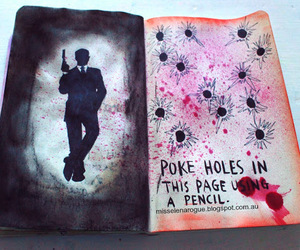 art, James Bond, and wreck this journal image