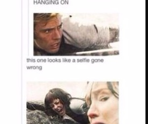 selfie, the hunger games, and catching fire image