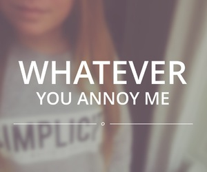 whatever you annoy me image