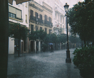 rain, street, and city image