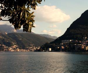 city, lake, and lugano image
