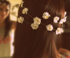 hair, style, and flowercrown image